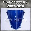 Motorcycle Accessories Double Bubble Windshield/Windscreen - Blue For Suzuki GSXR 1000 K9 2009 2010 09 10