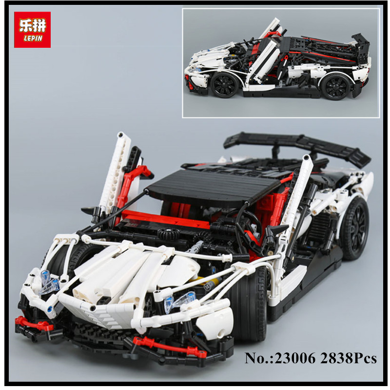IN STOCK Lepin 23006 2838pcs New Technic Series The Hatchback Type R Set Building Blocks Bricks Educational Toys Boy Gifts Model in stock lepin 23015 485pcs science and technology education toys educational building blocks set classic pegasus toys gifts