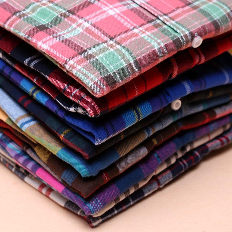 Mujeres  otoño y el invierno femenina camisa de algodón camisa de tela escocesa