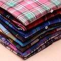 Mujeres 2016 otoño y el invierno femenina camisa de algodón camisa de tela escocesa femenina 100% de la largo-manga superior femenina prendas de vestir exteriores