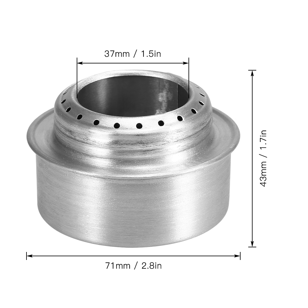 Portable Mini Aluminum Alloy Alcohol Stove With Lid Outdoor Camping Hiking Picnic Backpacking Ultralight Cooking Stove