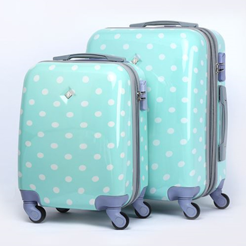 Aliexpress.com : Buy KUNDUI Cute Polka Dot Trolley case bags women ...