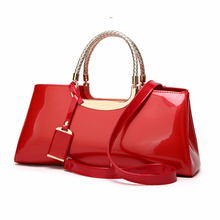 Купить с кэшбэком Totes Bag Women Travel Bags Leather Pu Mirror Surface Party Bag Female Luxury Handbags Women Bags Designer Sac A Main Femme Red