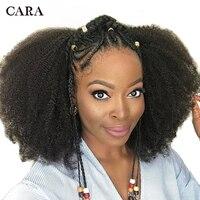 Монгольский афро кудрявый Kurly парик предварительно сорвал Full Lace натуральные волосы парики для Для женщин бесклеевого парики натуральный че