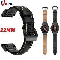 22 мм кожаный ремешок для часов Garmin Fenix 5 5 Plus Forerunner 935 945 Ремешок Браслет быстросъемный спортивный сменный Браслет
