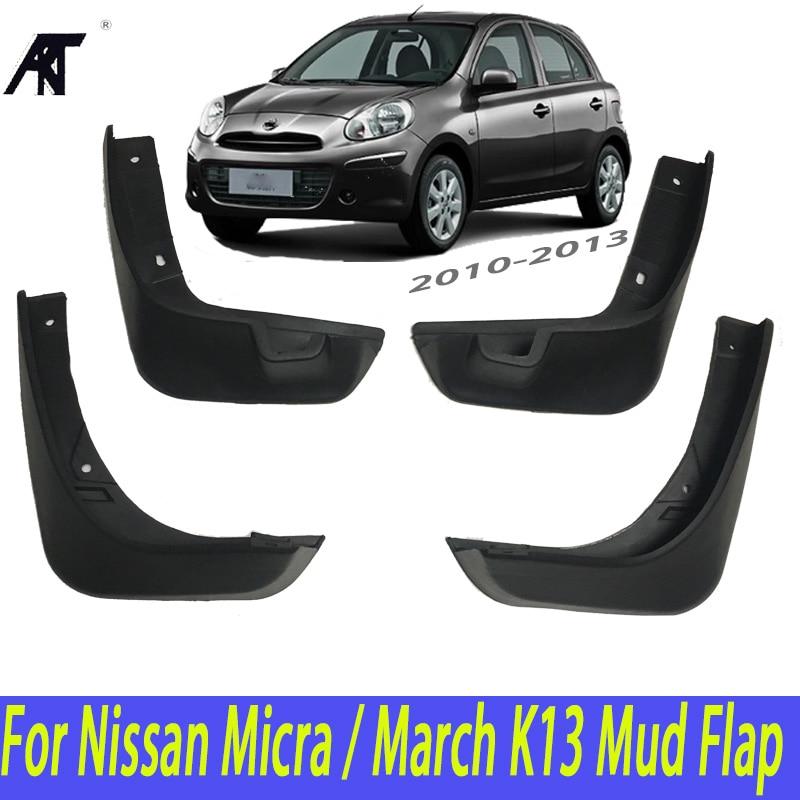 Car Mud Flaps For Nissan Micra / March K13 2010 2011 2012 2013 Front Rear Mudflaps Splash Guards Mud Flap Mudguards Fender