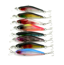 200 pcs new design 80mm Minnow Bass hard fishing Lures Laser Bait plastic fishing tackle 8CM 6.3G hooks Fishing Wobbler