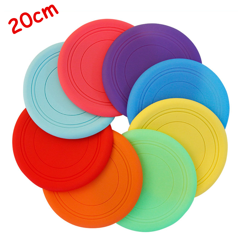 20cm Large Silicone Soft Toys Safety Kids Sport Toy Outdoor Games throw and catch Flying Disc Family Game UFO Boomerang saucer