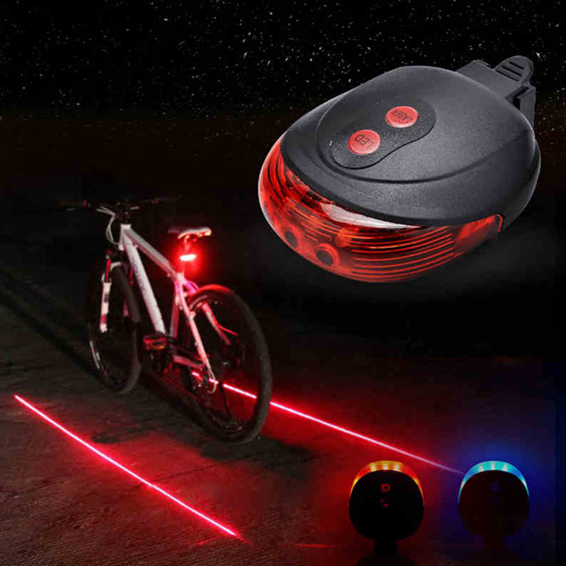 Warning Safety Bicycle LED Rear Tail Light Lamp Red Light 3 Modes