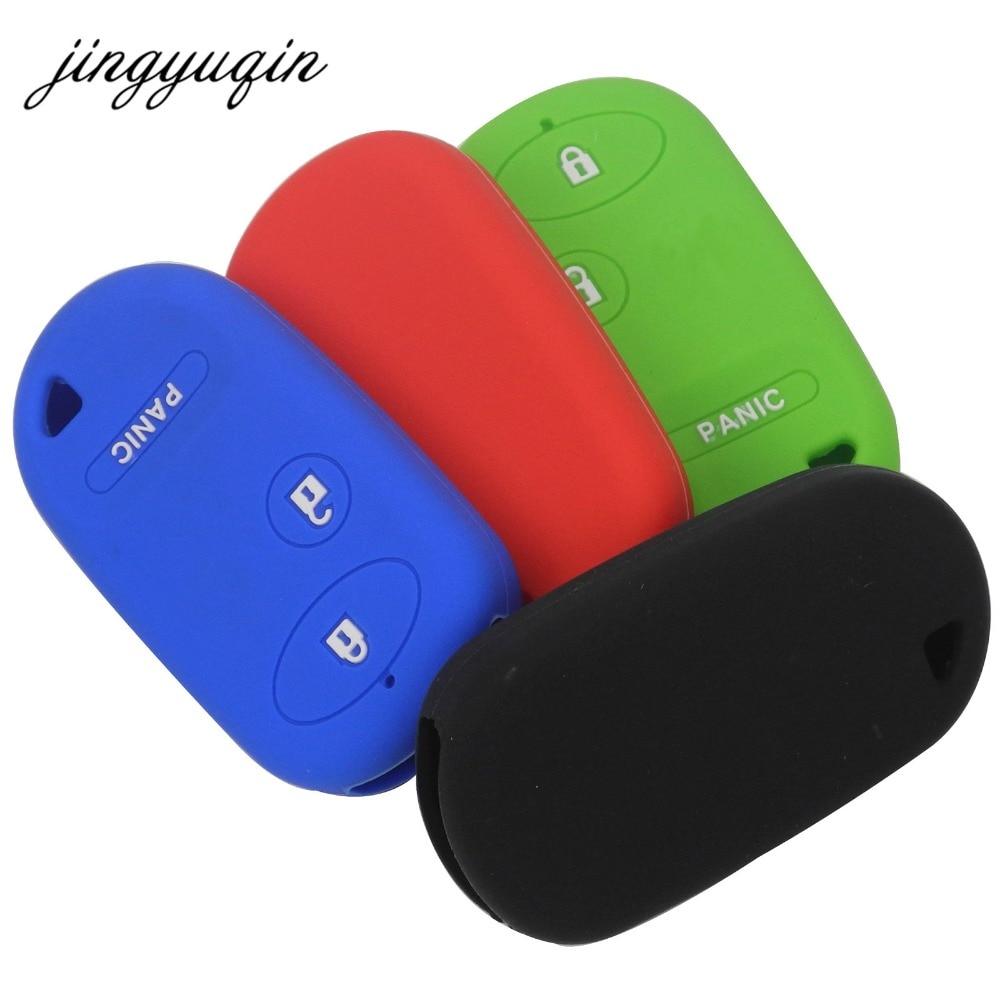 Jingyuqin New Car Key Silicone Case For Honda Civic Pilot Accord 2+Panic 3 Button Keyless Entry Remote Car Key Fob Cover