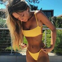 Brazilian Bikini 2019 Bathing Suit Women Swimsuit Plus Size Solid Swimwear Sexy Bandeau Bikini Set Push Up Maillot De Bain Femme