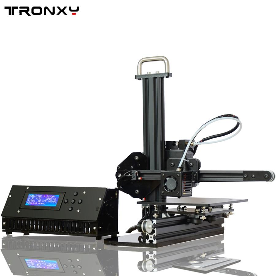 Tronxy L'éducation 3d Imprimante BRICOLAGE kit Haute Précision de bureau en aluminium profil 3d Imprimante X1