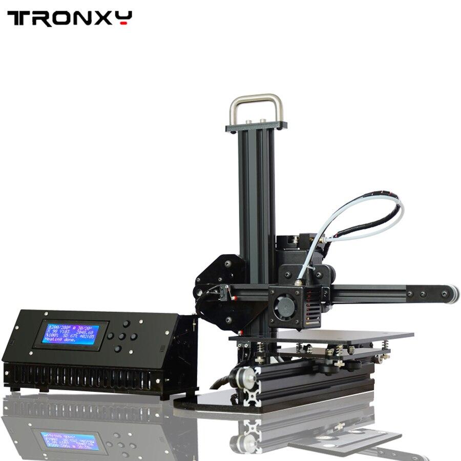 Tronxy образование 3d принтер DIY Kit Высокая точность рабочего стола алюминиевый профиль 3D imprimante x1