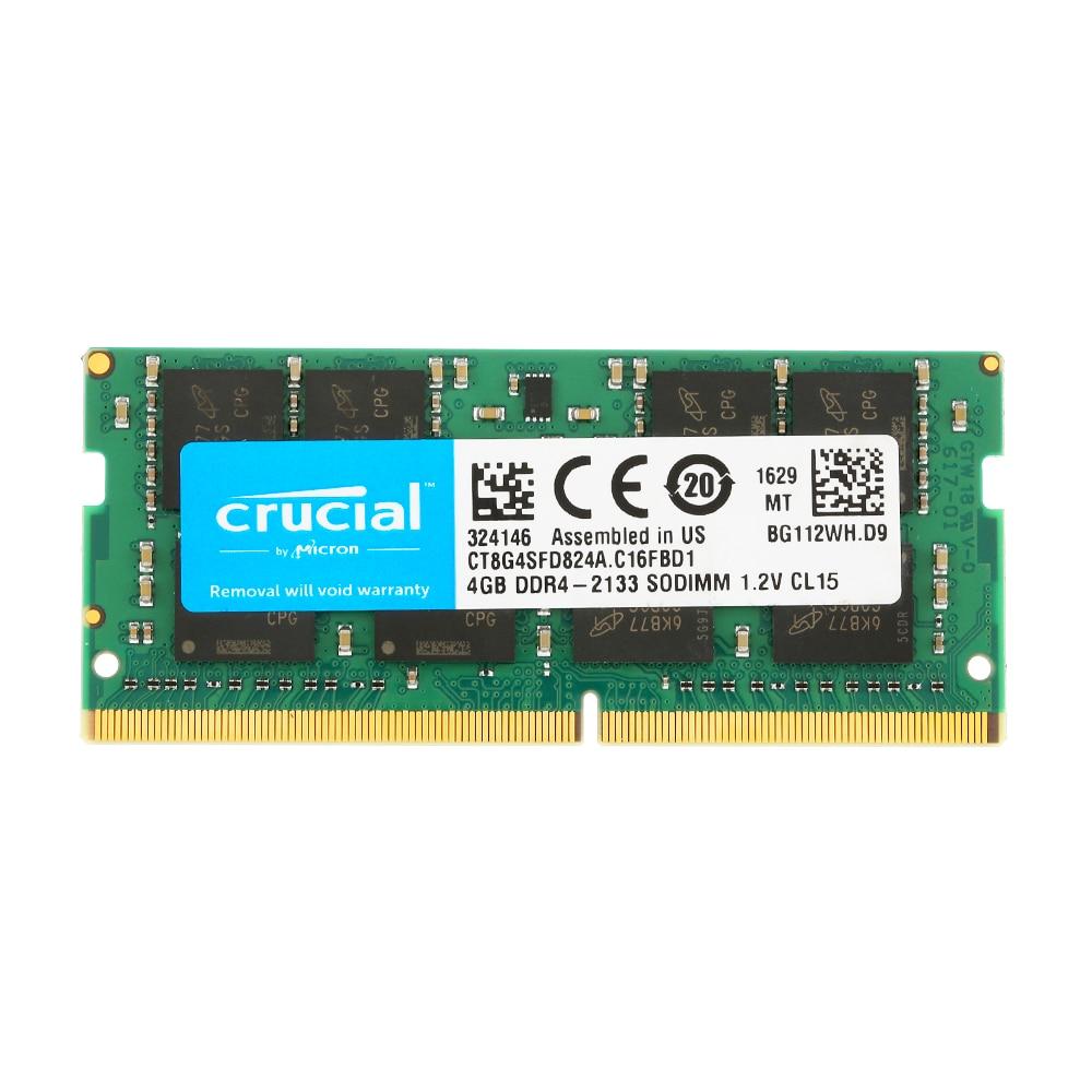 Crucial 4g 8g 16g ram único ddr4 2133mt/s PC4-17000 260-pin 1.2v cl15 memória para o portátil