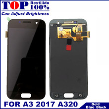 A320 LCD Replacement For Samsung Galaxy A3 2017 A320 A320M A320F Phones LCD Tested Display with Touch Screen Digitizer Assembly(China)