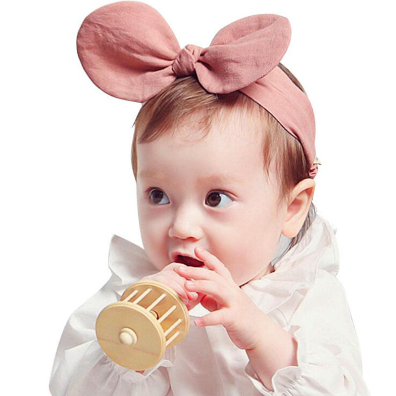 Kids Headband Lovely Rabbit Ears Headband Newborn Bowknot Elastic Hairband Headwrap Headwear Hair Band Accessories hot not elastic flowers bowknot headbands girl hair accessories girl headband cute hair band newborn floral headband wjul26