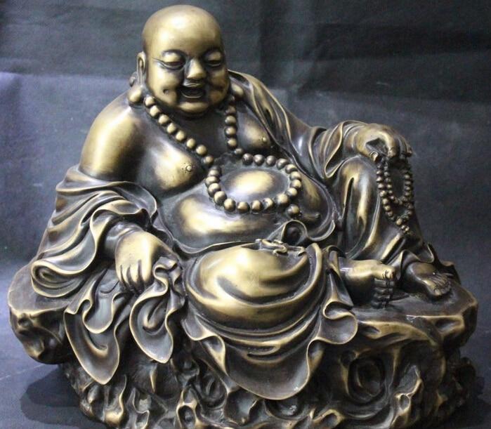 007650 13 Chinese Pure Bronze Wealth Happy Laughter Maitreya Buddha Money Bag Statue007650 13 Chinese Pure Bronze Wealth Happy Laughter Maitreya Buddha Money Bag Statue