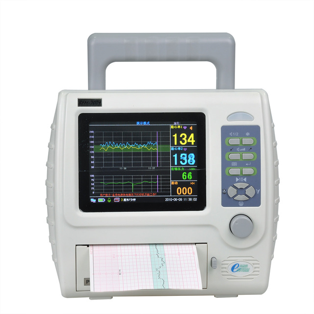 CE approved ultrasoun fetal maternal monitor CTG machine 5.7'' color LCD twins fetal monitor BFM-700+