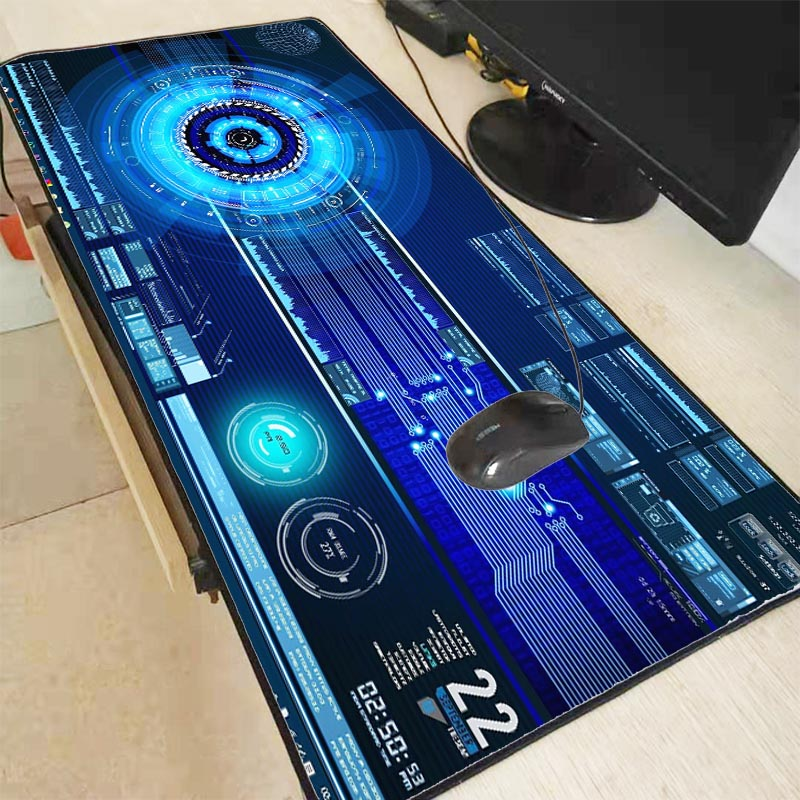 Mairuige Large Size DJ Pattern Keyboard Mouse Pad Natural Rubber Material Waterproof Gaming Mouse Pad Speed Version Game Player