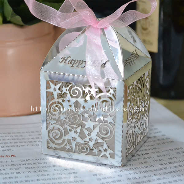 Laser Cut Ramadan Kareem Favor Box For Eid Ul Fitr Star