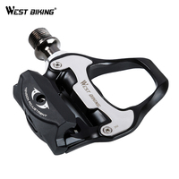 WEST BIKING Bicycle Pedals Self Locking Aluminum Alloy 9 16 Luo Molybdenum Steel Axle Bearing SPD
