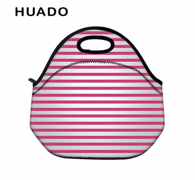 Colorful Portable lunch Tote for women & kid Food picnic bags Insulated Portable bag for School Kid