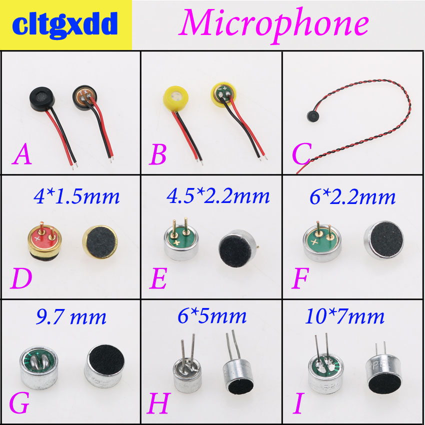 Cltgxdd 2pcs Micorphone MIC For Android Phone Built-in Microphone Voice Transmitter Speaker Inner Repair Parts