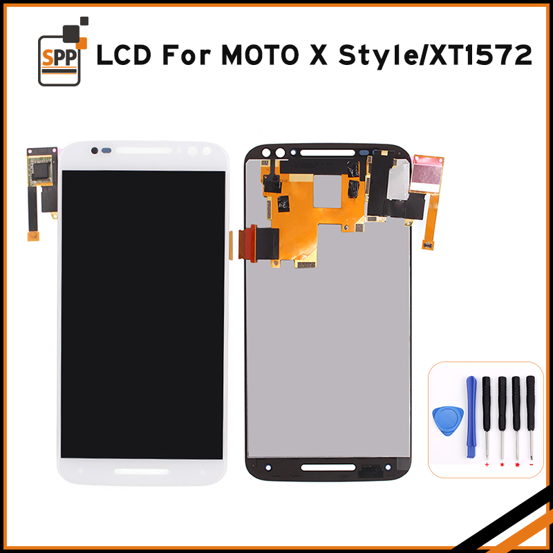 5 7 LCD Display With Frame For Moto X Style XT1572 Touch Screen Panel For Moto