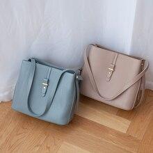 цена на VENOF fashion women genuine leather Shoulder Bags large capacity concise tote bag female Messenger bag crossbody bags for women