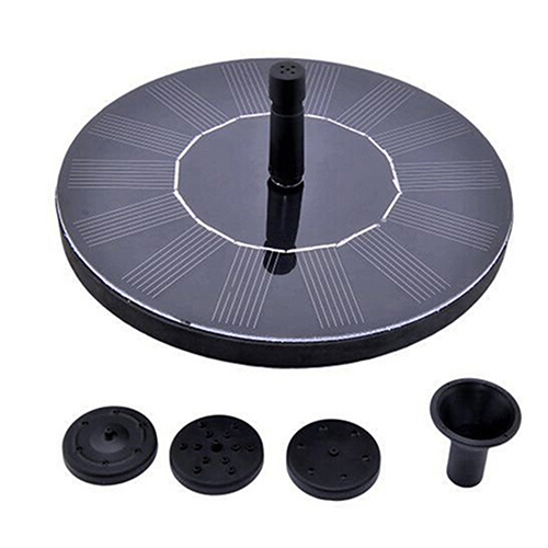Floating Water Pump Solar Panel Garden Plants Watering Power Fountain Pool Decor