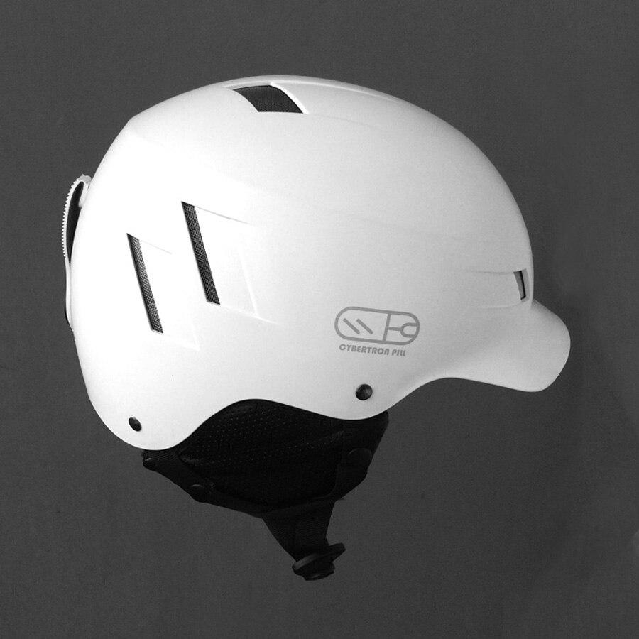 Nuevo Unisex de Esquí Casco ABS + EPS Ultraligero Blanco Casco de Skate Casco d