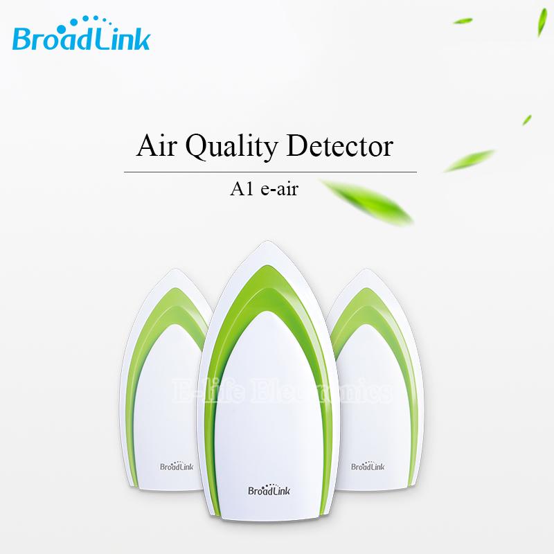 Prix pour Broadlink A1 E-Air Air Qualité Détecteur Filtre Analyze De L'air Humidité PM2.5 Télécommande by WIFI/Infrarouge Accueil Système d'automatisation