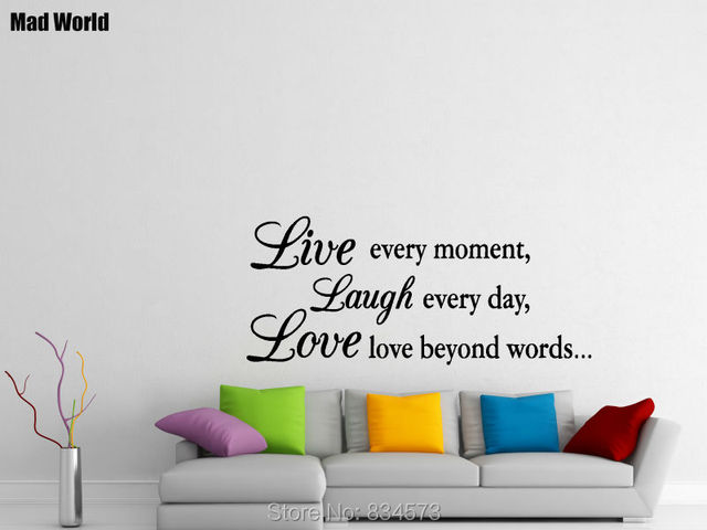 LIVE LAUGH LOVE Inspirational Family Friends Wall Art Stickers Wall Decal Home DIY Decoration Removable Decor  sc 1 st  AliExpress.com & LIVE LAUGH LOVE Inspirational Family Friends Wall Art Stickers Wall ...