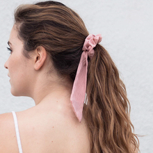 Hair Accessories Candy Colors Knot Ribbon Scrunchies Girls Pinytail Holder Simple Elastic Bands For Women Rubber Band