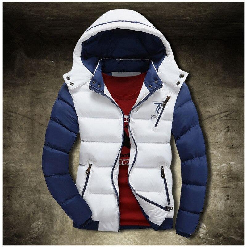 7facafde42 Inverno moda masculina de algodão versão Coreana do slim down jacket grosso  quente tamanho grande roupas
