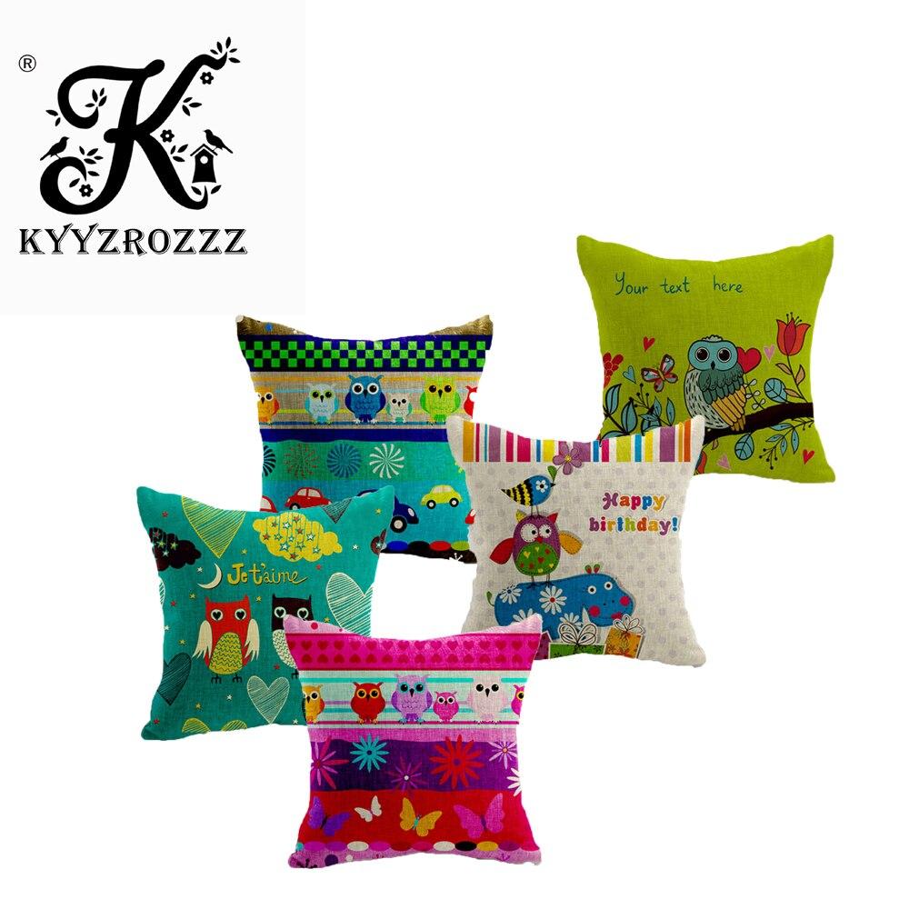 High Quality European Owl Cushion Pillow Case Home Decorative Cushion Cover Funda Cojines Owl Throw Pillows Beige Products