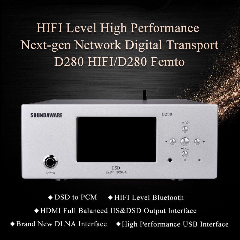 Desktop Digitaler Musik-player Sammlung Hier Soundaware D280 Hifi Erschwinglichen Netzwerk Digital Transport Femto Uhr Hochleistungs-sound-box Quelle Fpga Musik-player Dsd Pcm