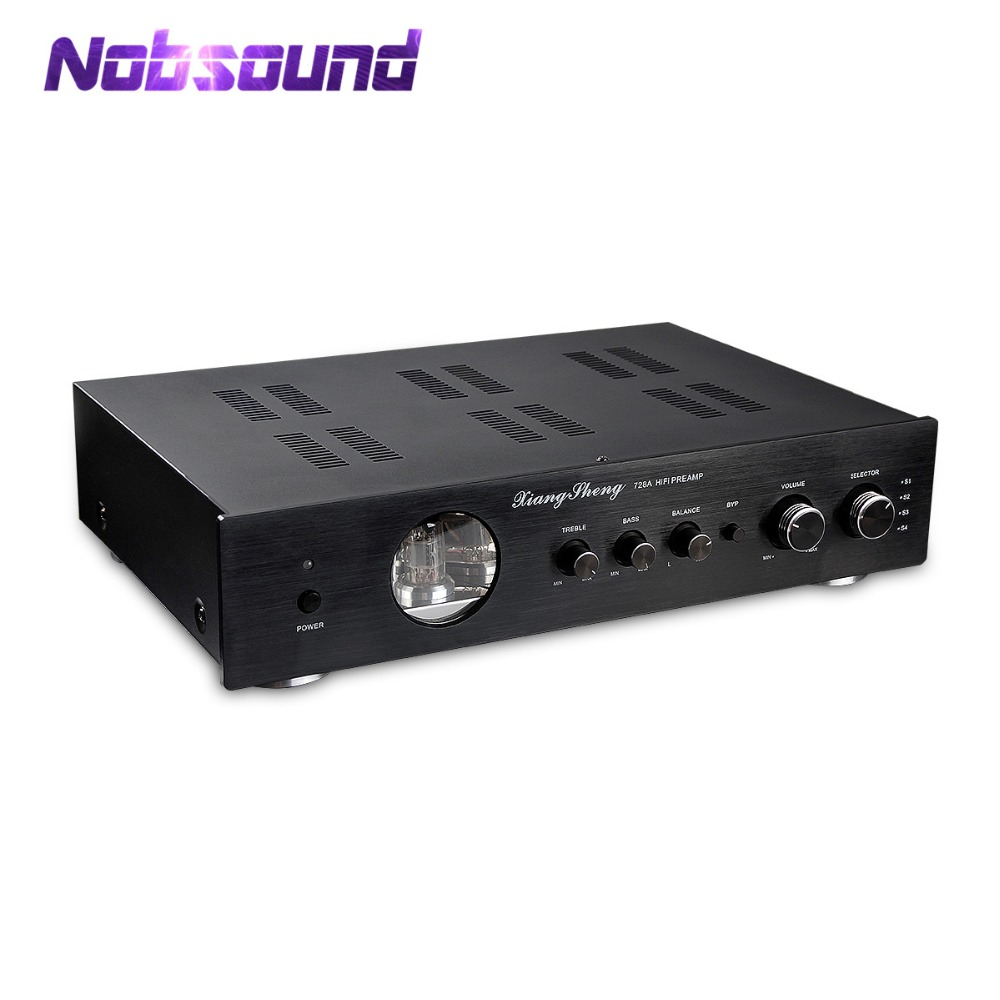 Nobsound Latest High End XiangSheng 728A Vacuum 12AT7 12AU7 Tube Pre-Amplifier Stereo HiFi Preamp Audio Processor 2pcs lot 12at7 tii hifi tube 12at7 diy