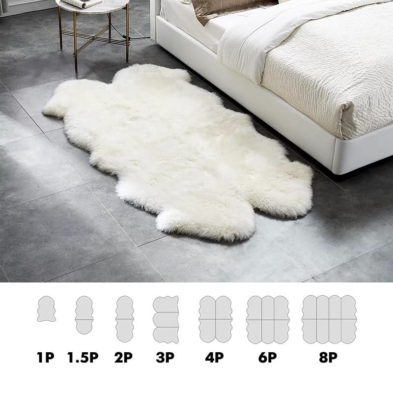 Origjinale e Shepëve Pelt të punuar me dorë bezhë të bardhë - Tekstil për shtëpi - Foto 3
