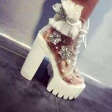 Carollabelly Handmade Thick Heels Platform Women Autumn Boot
