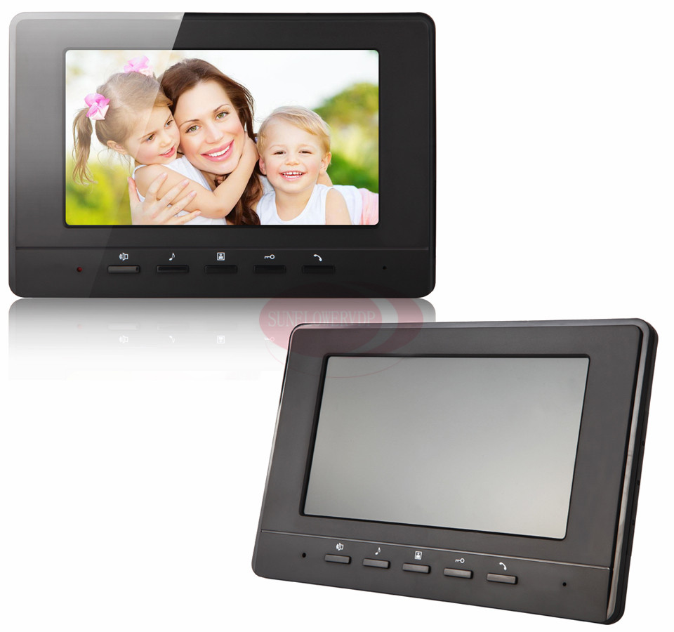 Monitor Intercom 7inch Color TFT LCD Indoor Monitor  Home Video Intercom Doorphone White And Black Color Choose 100V-240V aputure digital 7inch lcd field video monitor v screen vs 1 finehd field monitor accepts hdmi av for dslr
