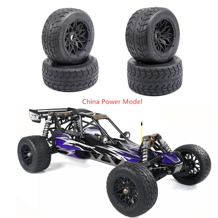 TARMAC BUSTER Front & Rear On Road Wheel And Tire Thicken Tyre For 1/5 Scale HPI KM Rovan BAJA 5B SS