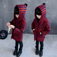 2016 new winter Girls Kids boys thicker plaid   jacket coat  outer clothing  comfortable cute baby Clothes Children Clothing 20W