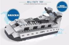 Military series building block navy hovercraft assemblage bricks model soldiers minifigures compatible pokemon go for boys gifts