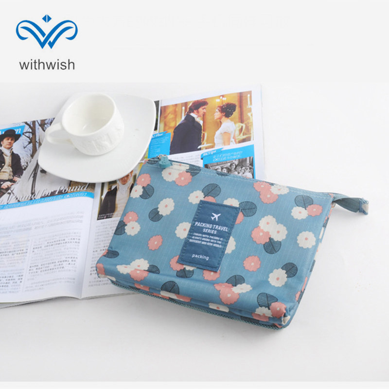 Double Layer Travel Cosmetics Bag Mini Toiletry Bags Makeups Small Items Organizer Pouch Free Shipping baby items organizer family travel bag