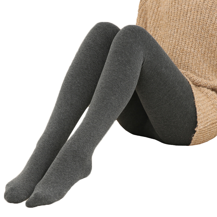 Autumn Winter Fashion Women's Plus Cashmere Tights Knitted Velvet Tights Elastic Slim Warm Thick Tights