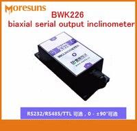 Rápido envío gratis BWK226 biaxial serie inclinómetro salida, sensores de inclinación ángulo Módulo sensor