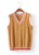 2016 Otoño Invierno de Corea del Cuello En V de Rayas de Punto Chaleco Del Suéter de Prendas de Punto Ocasionales de La Vendimia de Muy Buen Gusto Azul Rosa Blanco sweter mujer T103