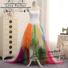 Rainbow Tulle Halter Sexy Long font b Evening b font font b Dress b font Short