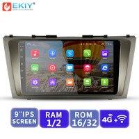 EKIY 9 ''ips Android без 2 Din Автомобильный мультимедийный плеер Автомобильный для Toyota Camry 2007 2008 2009 2010 2011 gps навигации 4 г модем
